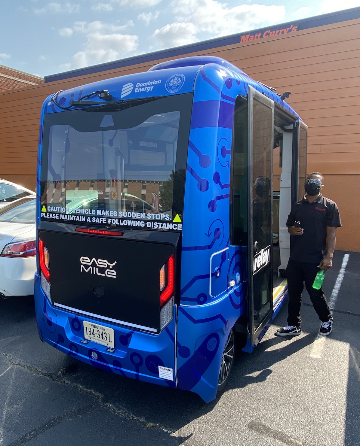 Meet Relay: The Blue Autonomous Bus